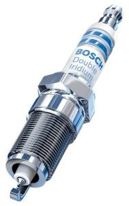 Bosch 9620 Double Iridium Pin to Pin Spark Plug, Up to 4X Longer Life (Pack of 4)