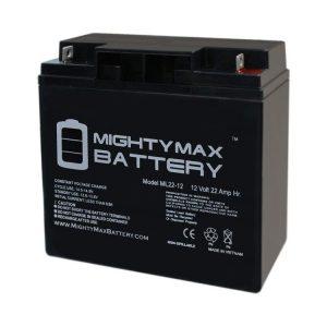 Mighty Max Battery ML22-12 - 12V 22AH Schumacher DSR ProSeries PSJ-2212 Jump Starter Booster Battery